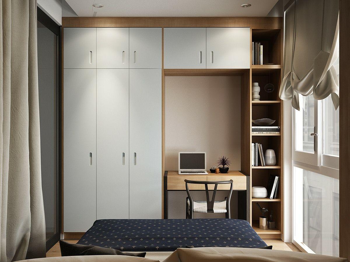 Deckenhoher #Einbauschrank mit #Schreibtisch und #Regal für ...
