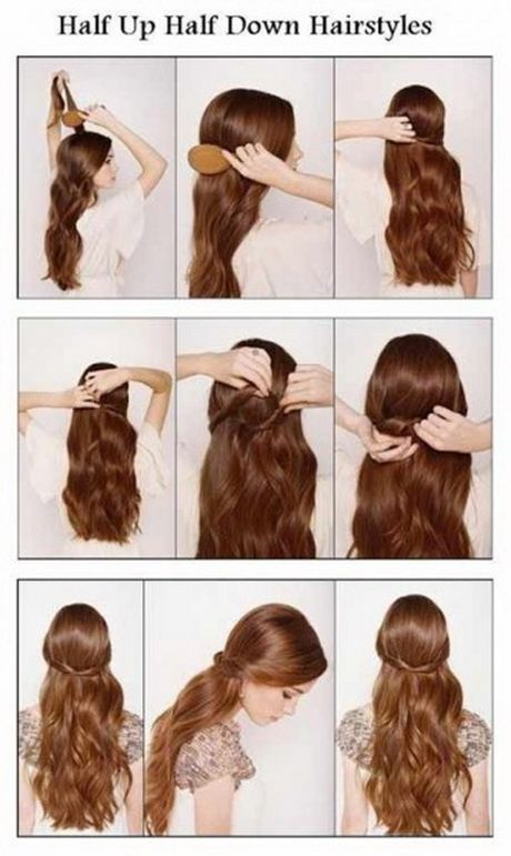 Half Up Down Hair Style Tutorial Easy Wedding Hairstyles For Long