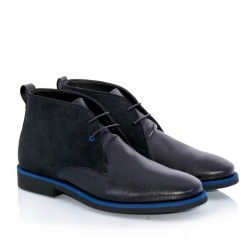 Harrison Black - faux suede and leather, vegan, handmade in Portugal