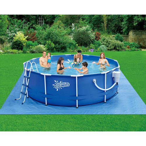 Summer Escapes 12 X 36 Metal Frame Pool With Images Summer Swimming Pool Summer Escape Swimming Pools