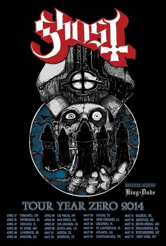 Populaire GHOST Confirm 2014 Tour with KING DUDE - Metal Injection | Turn it  HK23