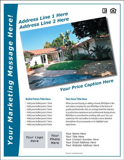 Free Real Estate Flyer And Postcard Templates Real Estate Flyers
