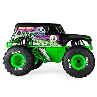 Monster Jam Official Grave Digger Remote Control Truck 1 15 Scale 2 4ghz Monster Trucks Monster Jam Remote Control Trucks