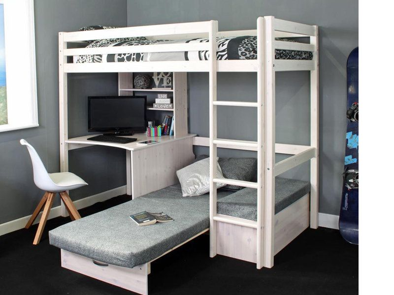 Thuka Hit 9 Highsleeper With Desk Chairbed In 2020 Loft Bed With Couch Diy Loft Bed Room Design Bedroom