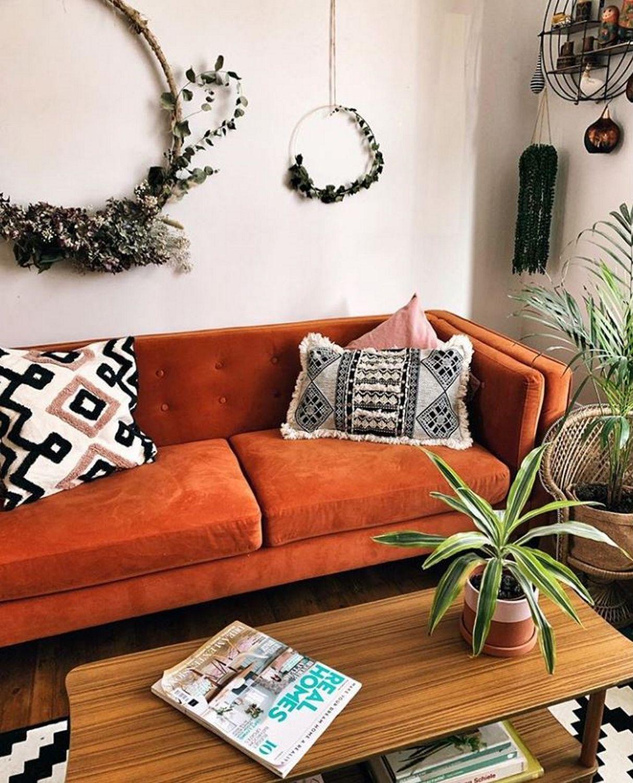 Instagram At Home At 170 Bailey Burnt Orange Velvet 3 Seater Sofa Sof024 Seater Sofa Orange Sofa Sofa