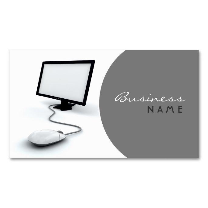 Computer Business Card Zazzle Com In 2021 Customizable Business Cards Business Cards Bus Card