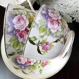 Tablecloth Embroidered Teapots Cup Saucer Vintge