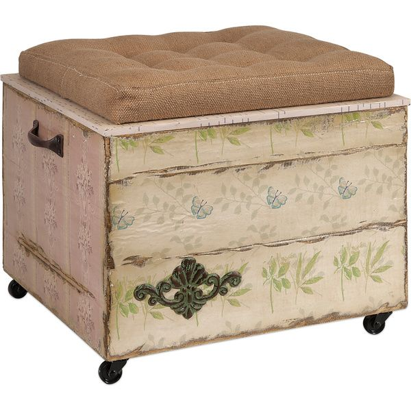 Imax Evelyn Crate Storage Ottoman by Imax | Compras, Antigüedades y ...