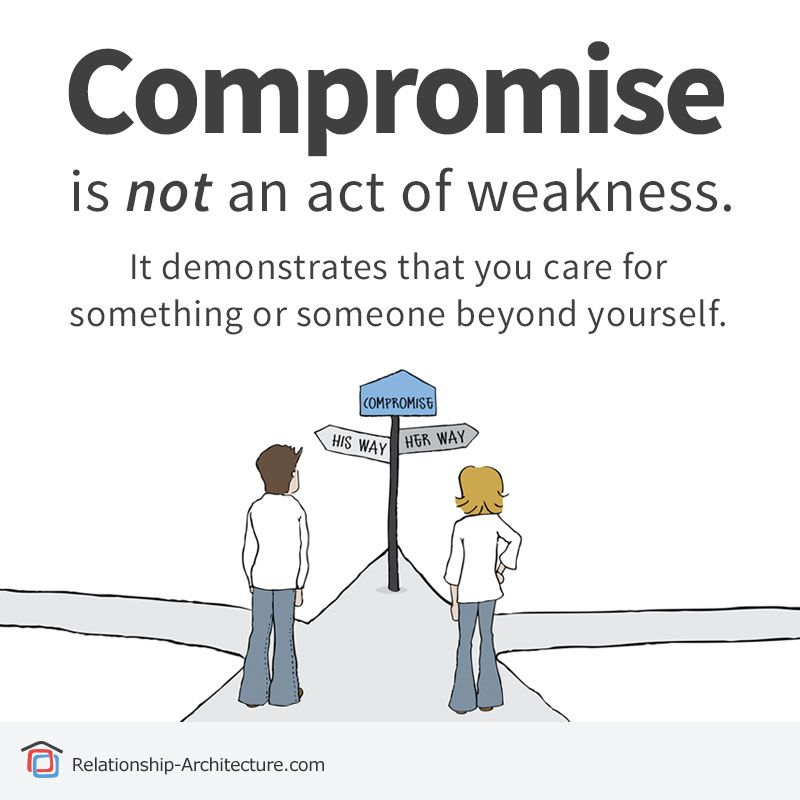 Compromise is not an act of weakness relationship