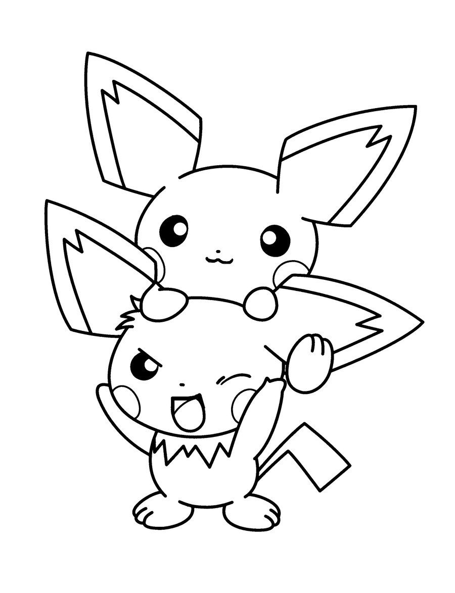 Herdier pokemon coloring pages - Pichu Pokemon Coloring Page Print Out And Color This Pichu Pokemon Coloring Page It Will Be A Nice Present For Your Mom Or Dad Color This Picture Of