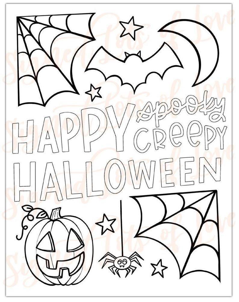 Digital Halloween Coloring Pages Printable Free Halloween Coloring Pages Halloween Coloring Pages Printable Fall Coloring Pages [ 1002 x 794 Pixel ]