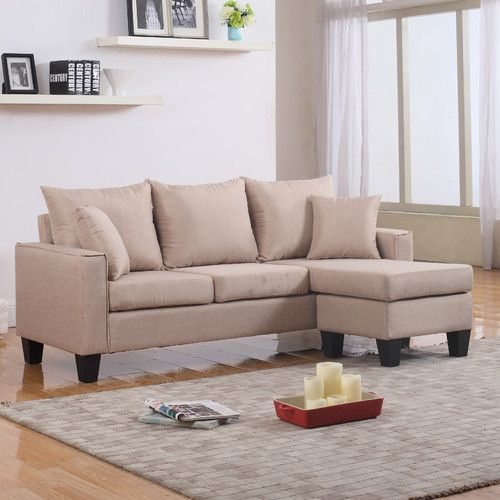"""Janna 75"""" Reversible Sectional Sectional sofa, Small"""