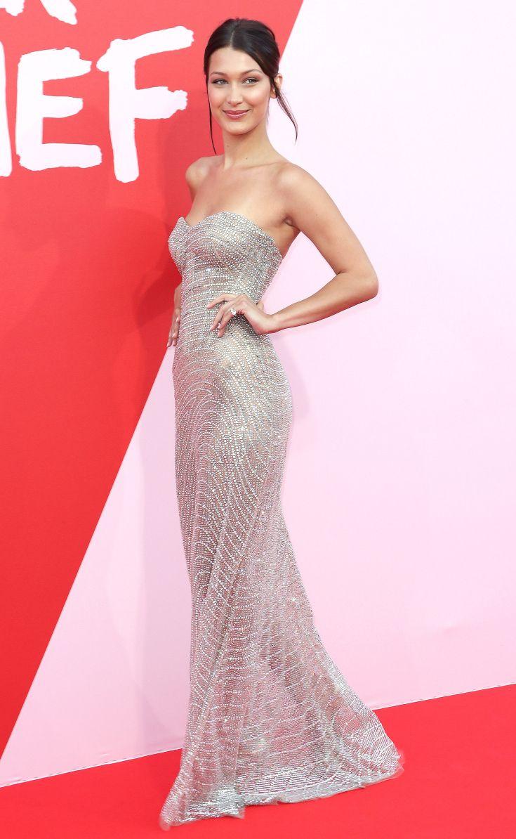Bella Hadid Roberto Cavalli Bella Hadid Dress Bella Hadid Red Carpet Red Carpet Dresses