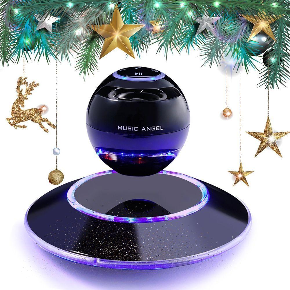 Levitating LED Bluetooth Speakers Modern Portable Wireless Stereo Bass Gift #MusicAngel