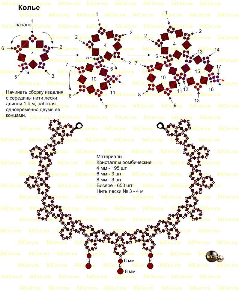 98 - Semali Ожерелье Модель | koraliki | Pinterest | Abalorios ...