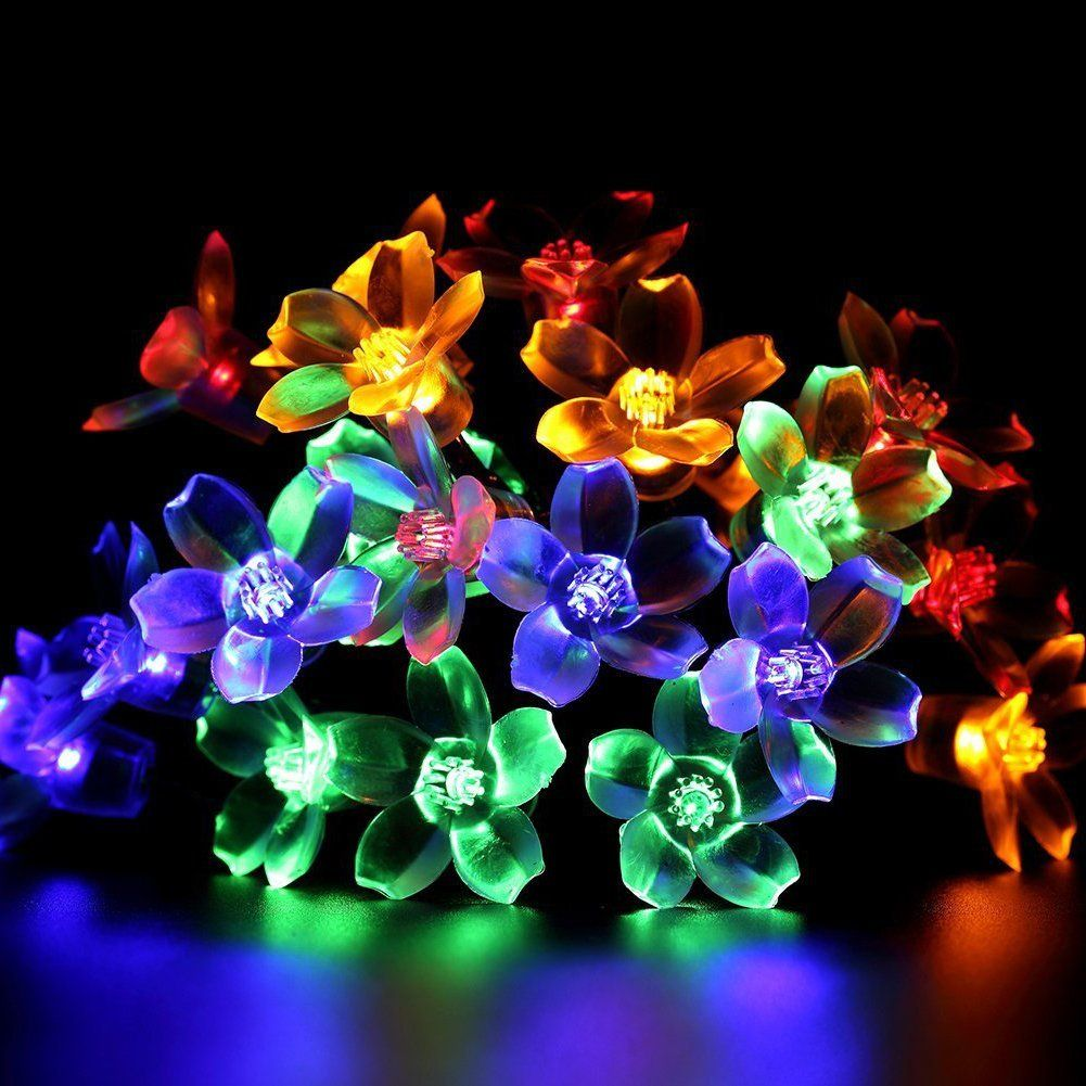 Amazon.com : 50 LED Solar Garden Lights Outdoor Solar String Lights Flower  Bulbs Outdoor Christmas Decorations Multi Color Led String Lights  Waterproof ...