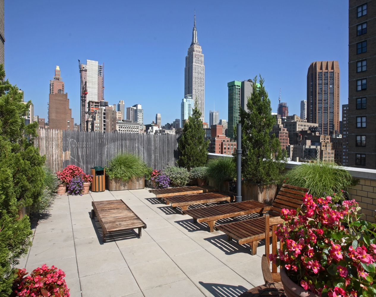 Landscaped And Furnished Roof Deck At