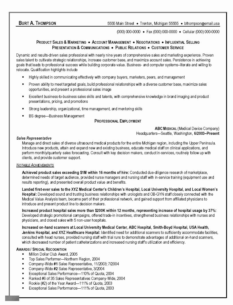 Pin By Abbi Rudy On Brent Sales Resume Examples Sales Resume Resume Examples
