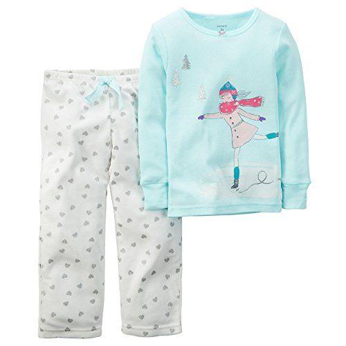 Carter's Little Girls 2 Piece Cotton Fleece PJs -Ice Skate (4t, Teal) ... Carter's http://www.amazon.com/dp/B017TEHWTQ/ref=cm_sw_r_pi_dp_m27Zwb0BMPRYD