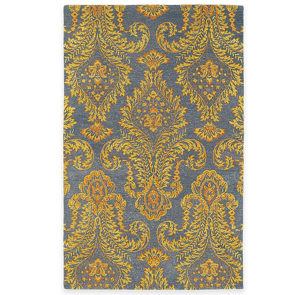 Kaleen Divine Fleur 5 X 7 9 Area Rug In Fire Yellow Rugs