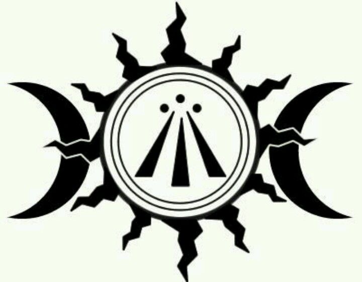 The Awen The Celtic Druid Picture In The Middle Of The Sun