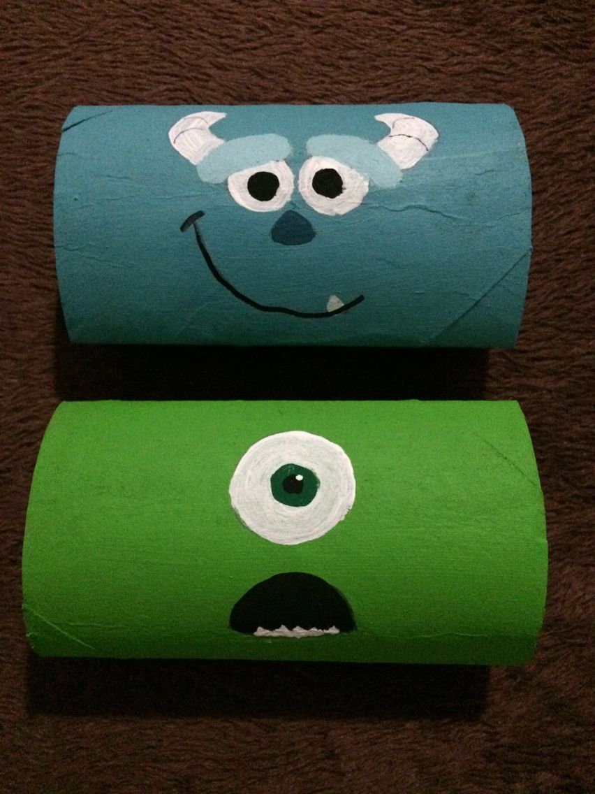 Mike & Sully / Monsters Inc / Toilet paper rolls