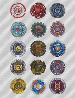 Beyblade cupcake toppers bey blades pinterest for Anime beyblade cake topper decoration set