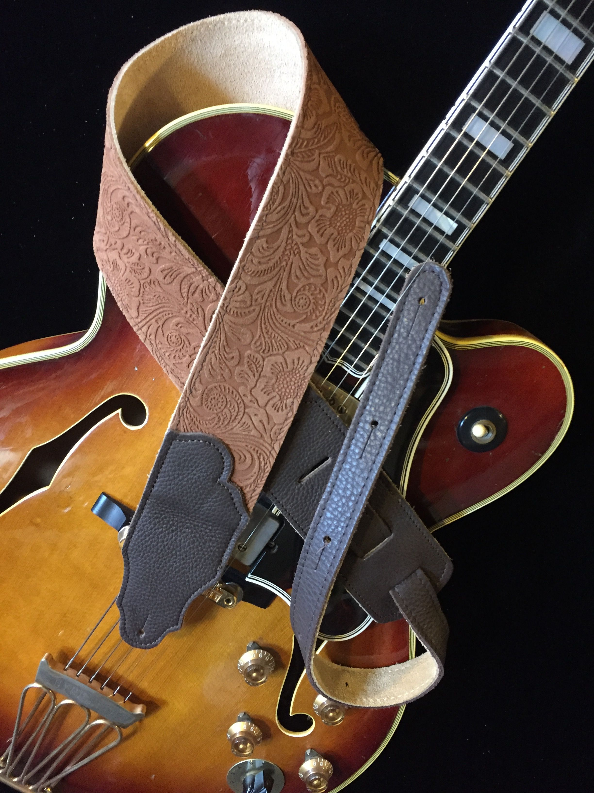 Embossed Suede Guitar Strap Guitar Strap Suede Leather Gloves