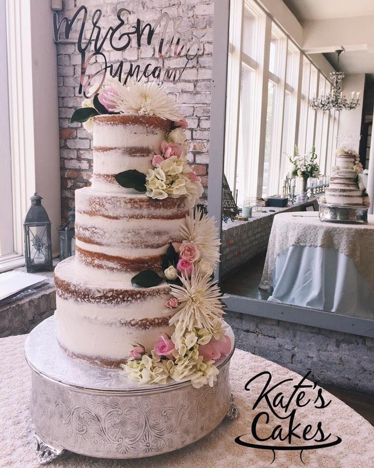 Naked Wedding Cake Pensacola Florida Kates Cakes