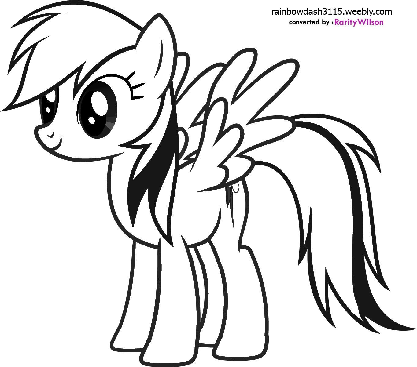 Rainbow Dash | My Little Pony Coloring Pages | Pinterest
