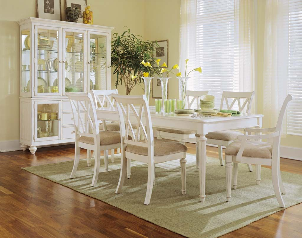 Exceptionnel Camden Antique White Dining Room American Drew Tables Louis Round Table