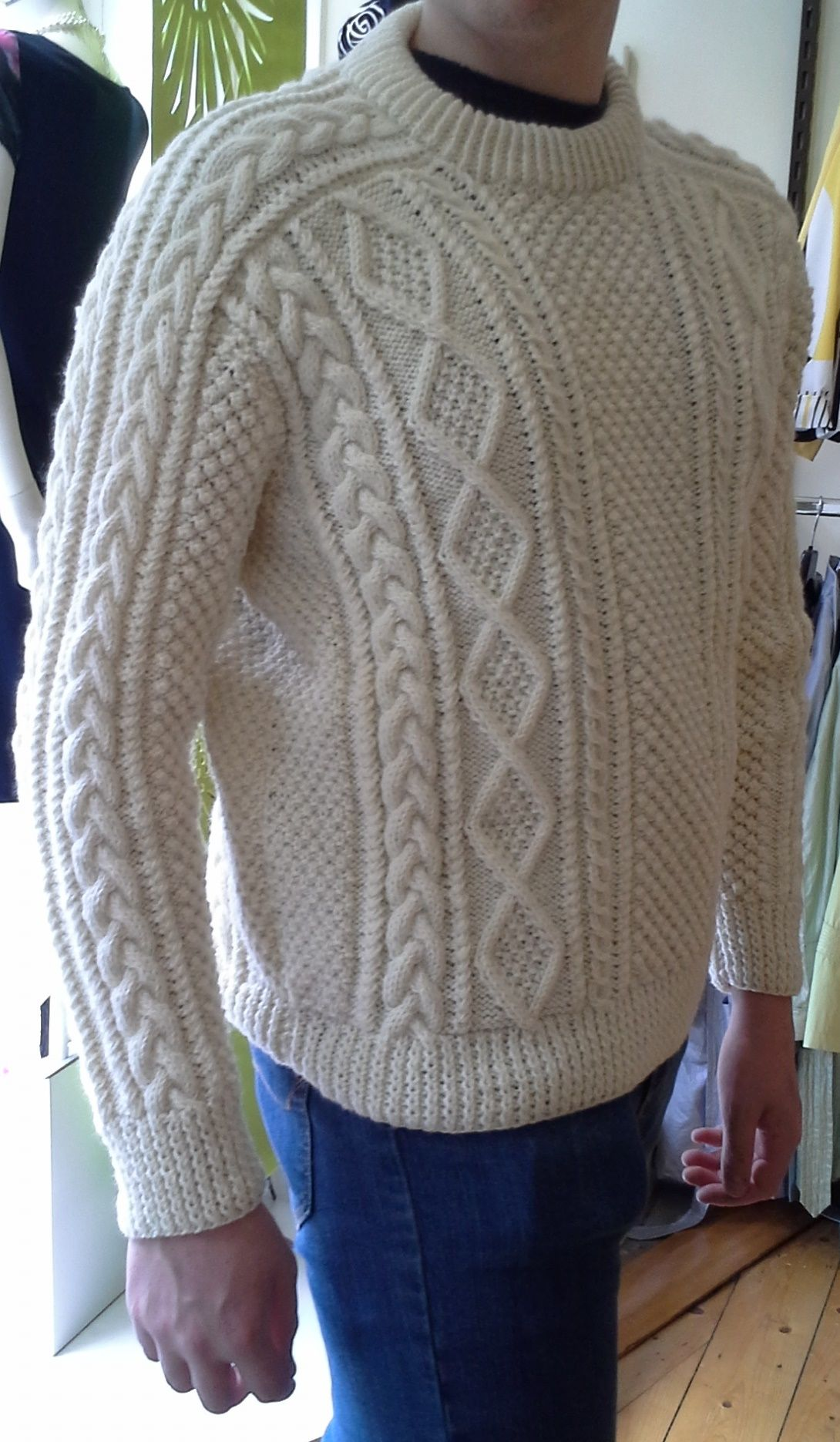 Handknit in 100% pure new wool in Co. Donegal, this sweater