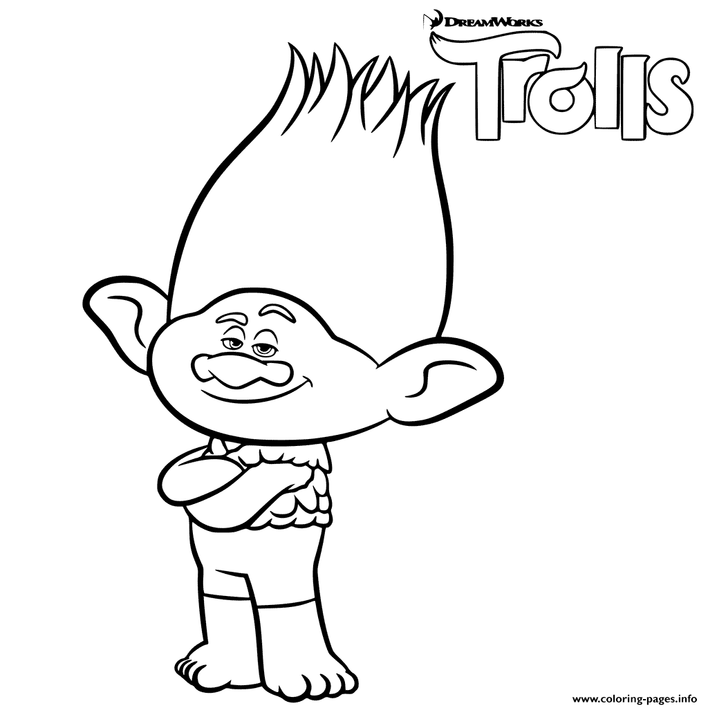 coloring pagesinfo branch trolls printable coloring pages book