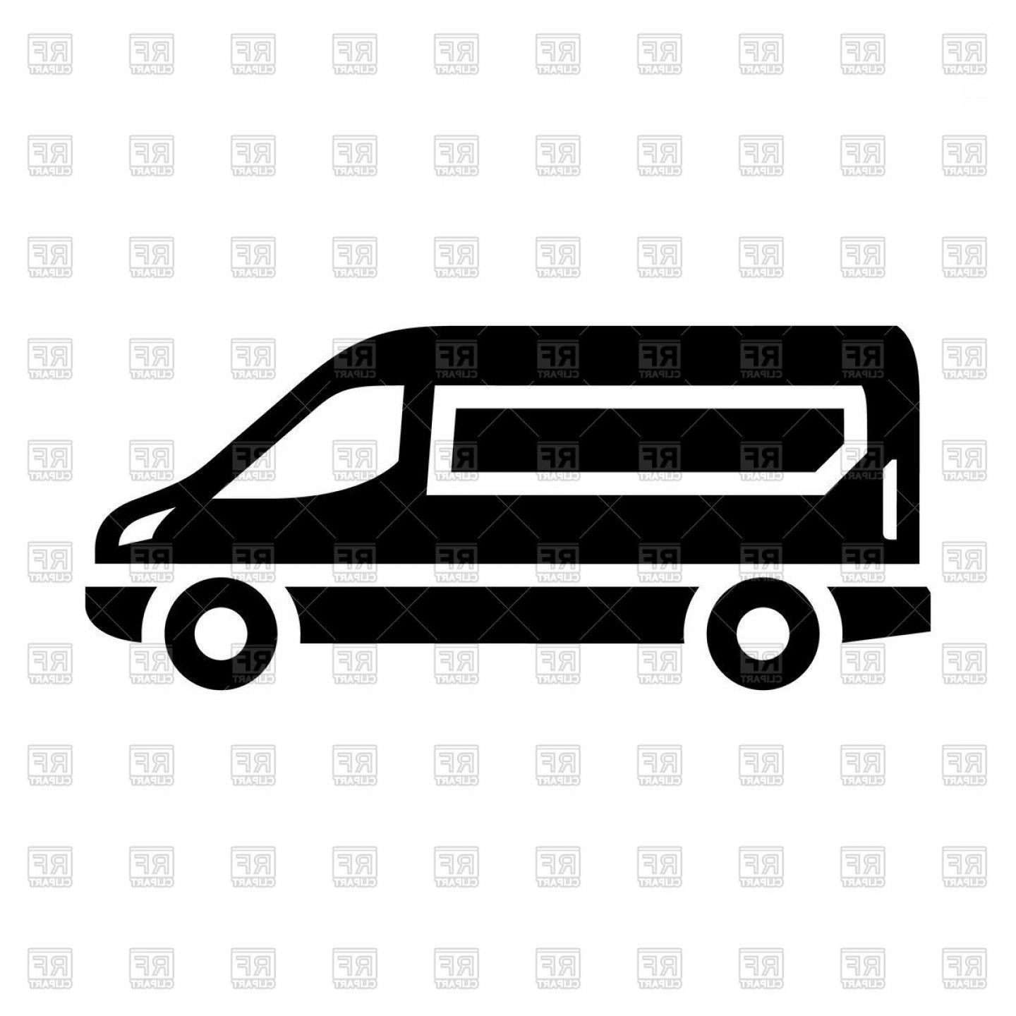 Sprinter Cargo Van Vector Sprinter Van Black Icon Vector Clipart