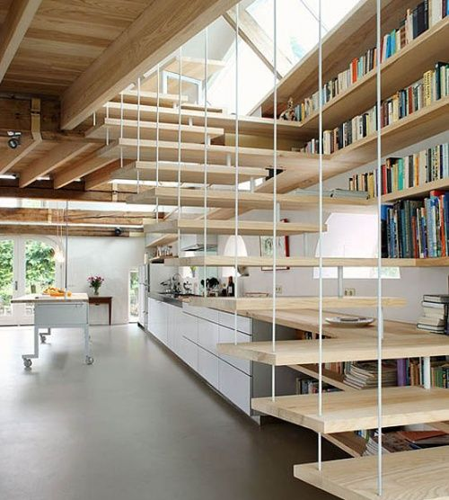 Four Ways To Better Interior Design Installations: Designed By Maxwan Architects. Staircase, Bookshelf: 2 In