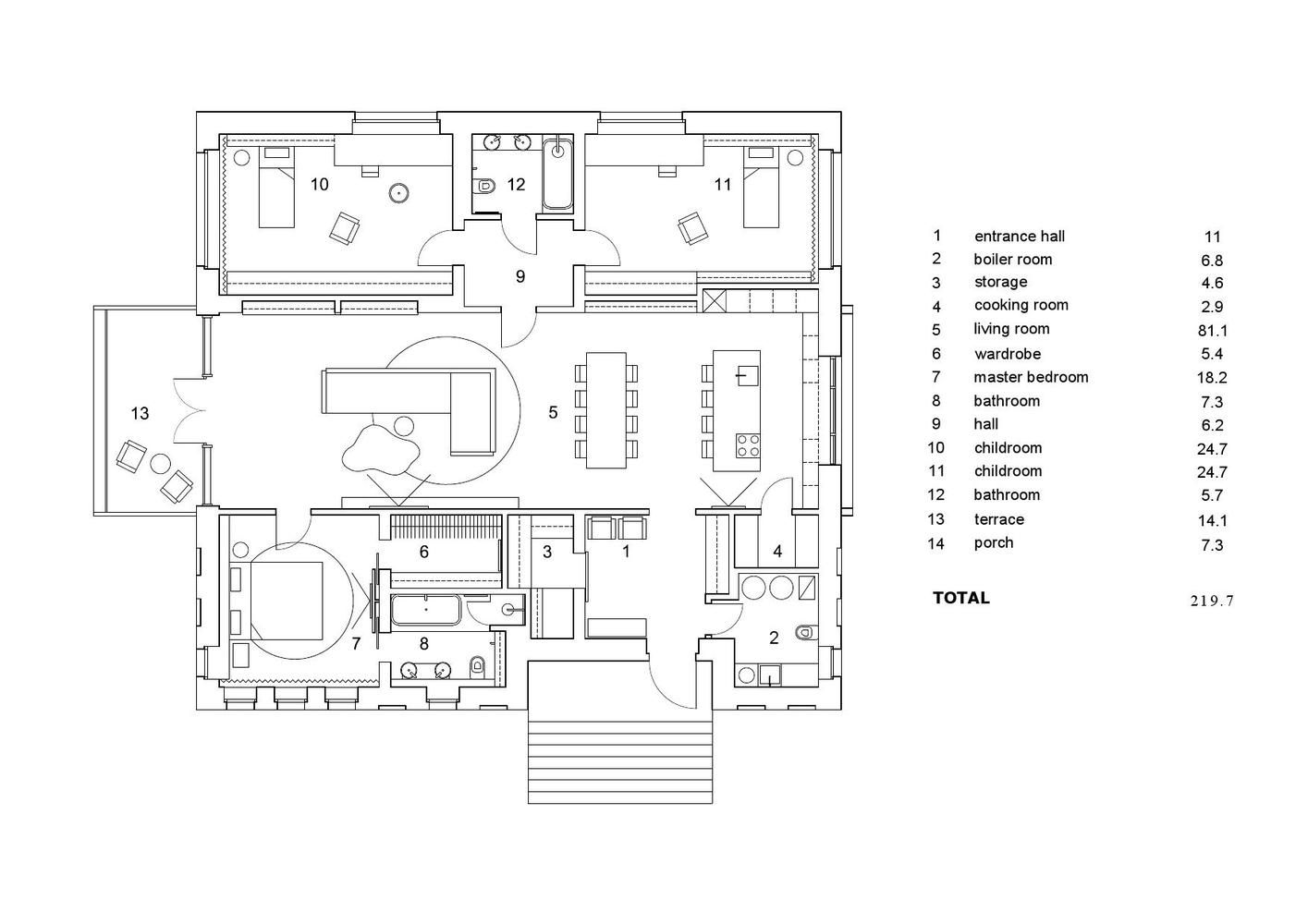 Gallery Of Shatura House Le Atelier 18 Shatura Floor Plans Brick And Wood