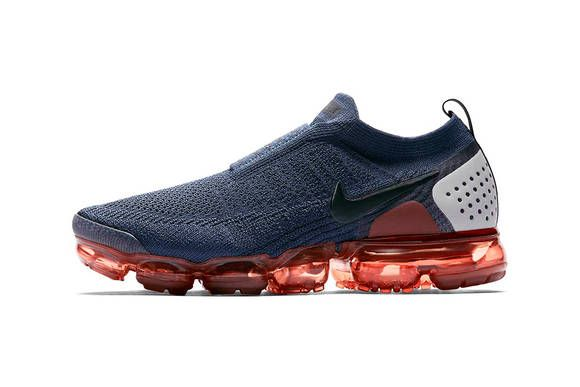 5aff143a0abe Nike Air VaporMax Moc 2 Gunsmoke Release Blackened Blue Thunder Grey  Particle Rose Info Buy