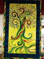 Healing Tree fabric by Melissa Marie Collins for Frond Design Studios