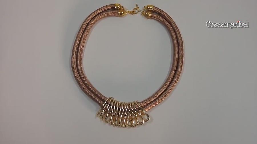 DIY: Como fazer um colar de cordão duplo e links | Crafts