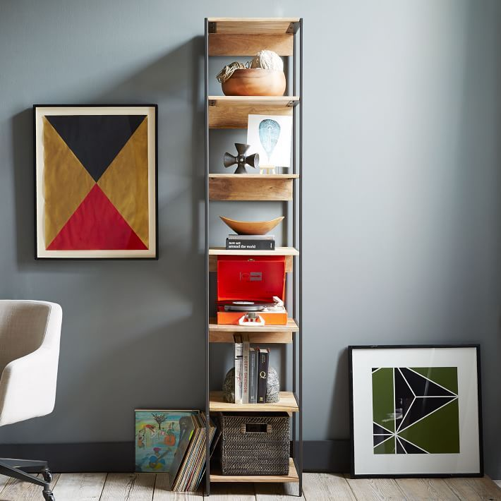 colourful homeli shelving rainbow bookshelf walnut with configurable system vertical cubit modular
