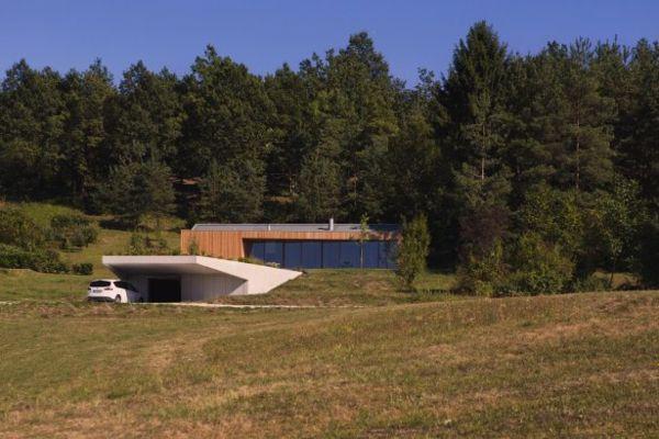 Haus Wald Slovenien Moderne Archtiektur
