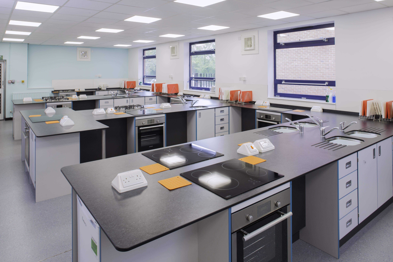 Brine Leas High School Food Technology Classroom