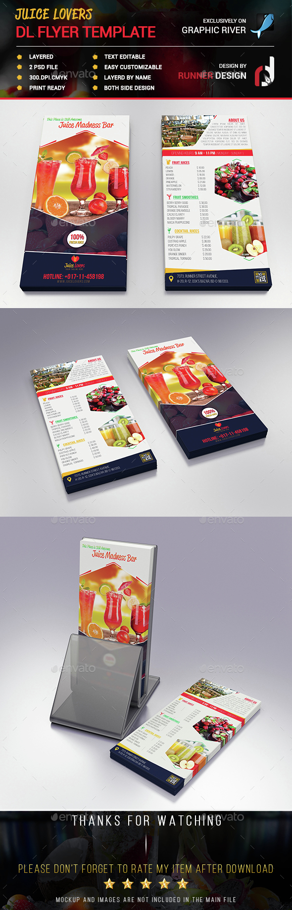 Juice Lovers DL Flyer Template | DL Flyer Design | Pinterest | Flyer ...