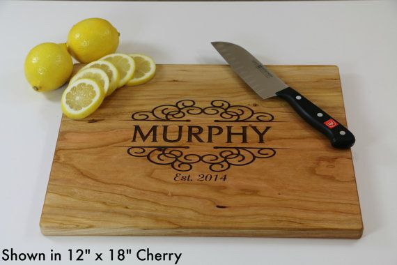 Personalized Engraved Cutting Board Wedding by RusticWeddingStop