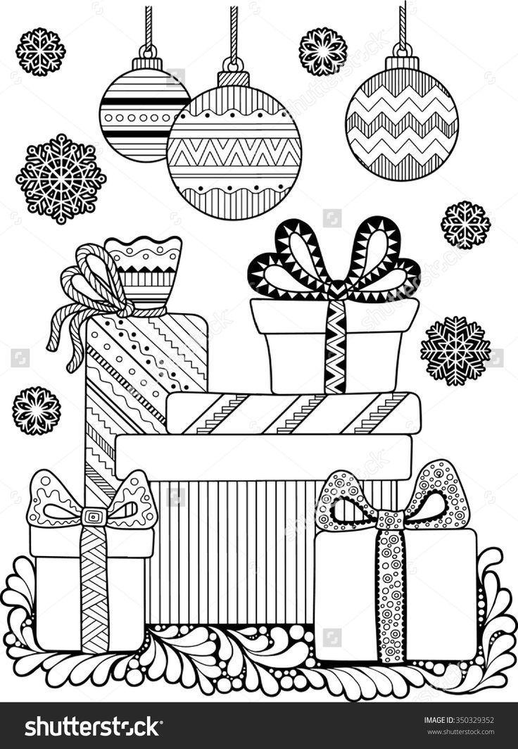 weihnachten malvorlage 350329352 shutterstock