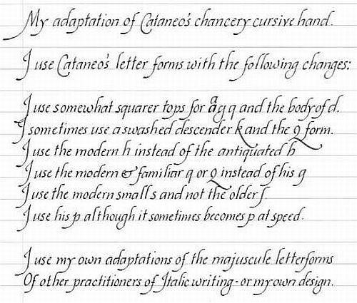 italic handwriting