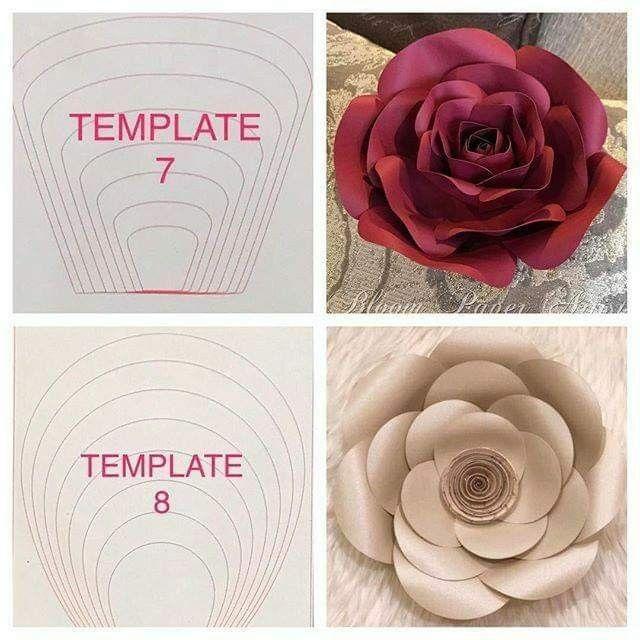 Pin By Linda Palomo On Florgra Paper Flowers Diy Paper Flowers Paper Rose Template