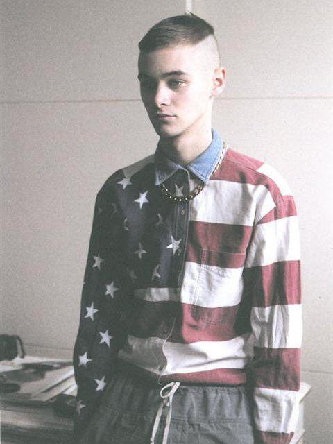 AMERICA国旗のY-shirts