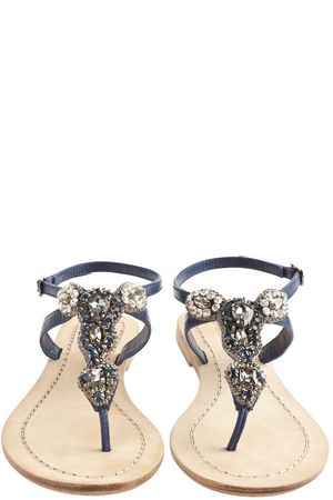 9c5ef8084834 navy embellished sandals
