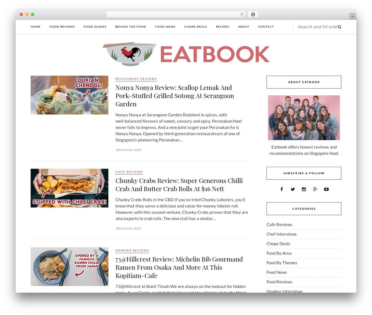 17b5347bdac7 Rosemary premium WordPress theme - eatbook.sg